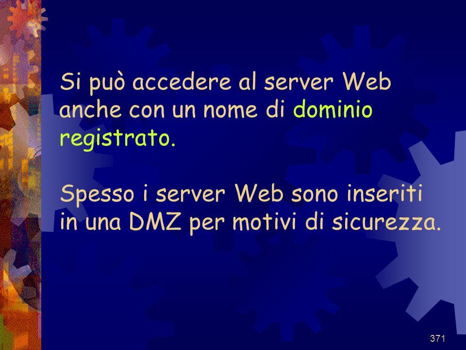 Si può accedere al server Web anche con un nome di dominio registrato
