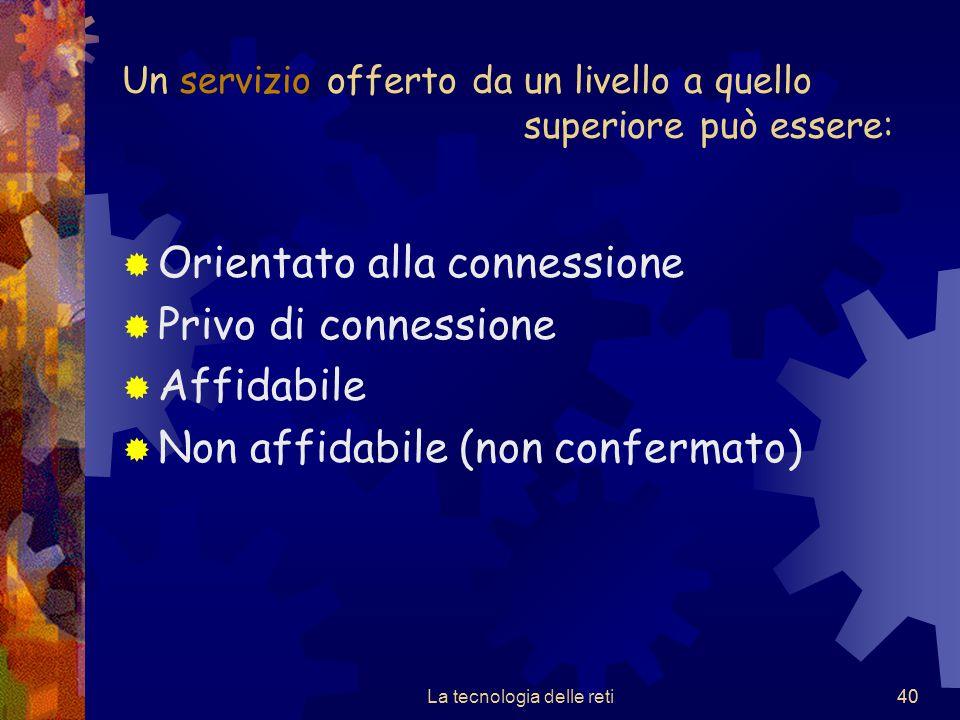 Un servizio offerto da un livello a quello superiore può essere:
