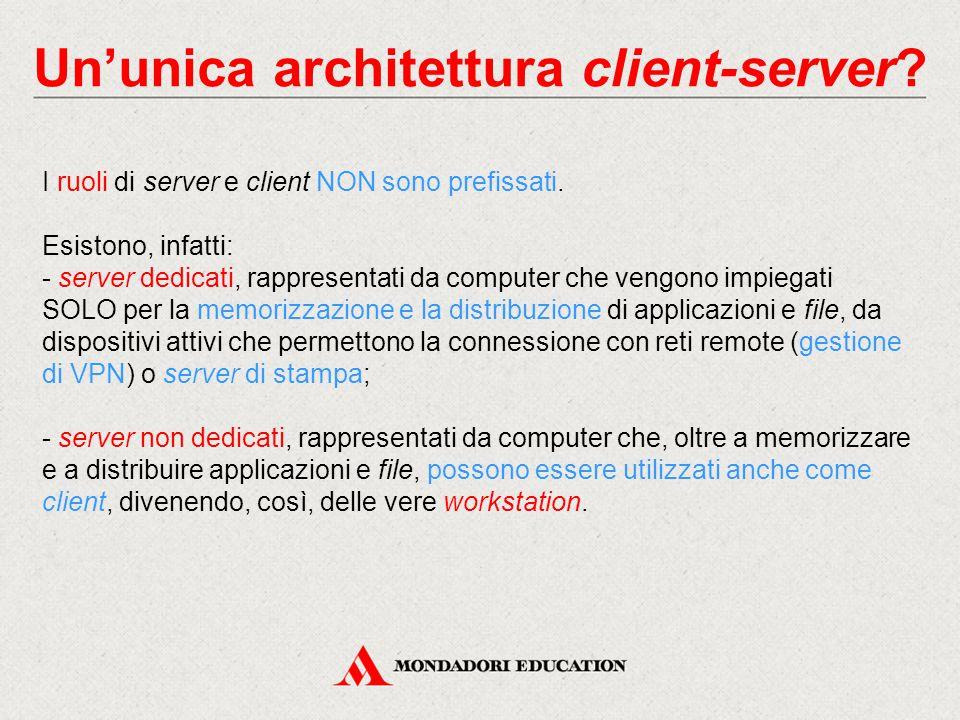 Un'unica architettura client-server