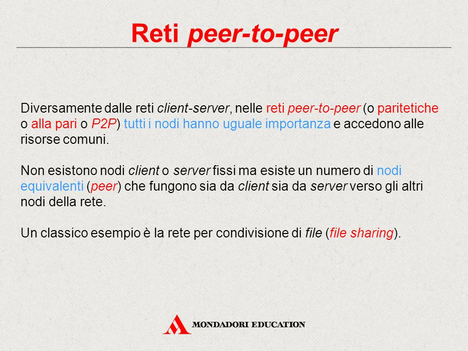 Reti peer-to-peer