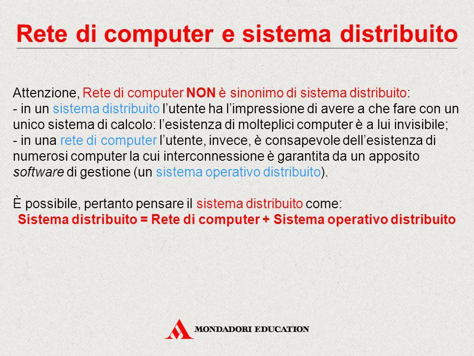 Rete di computer e sistema distribuito