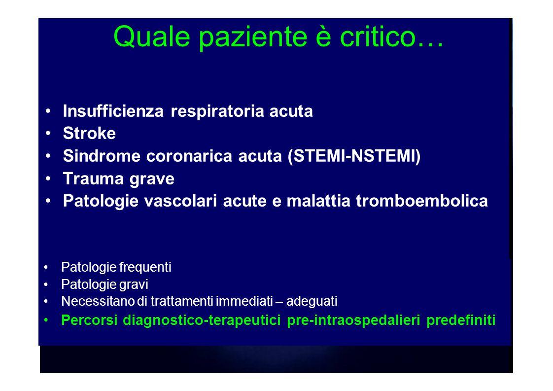 Quale paziente è critico…