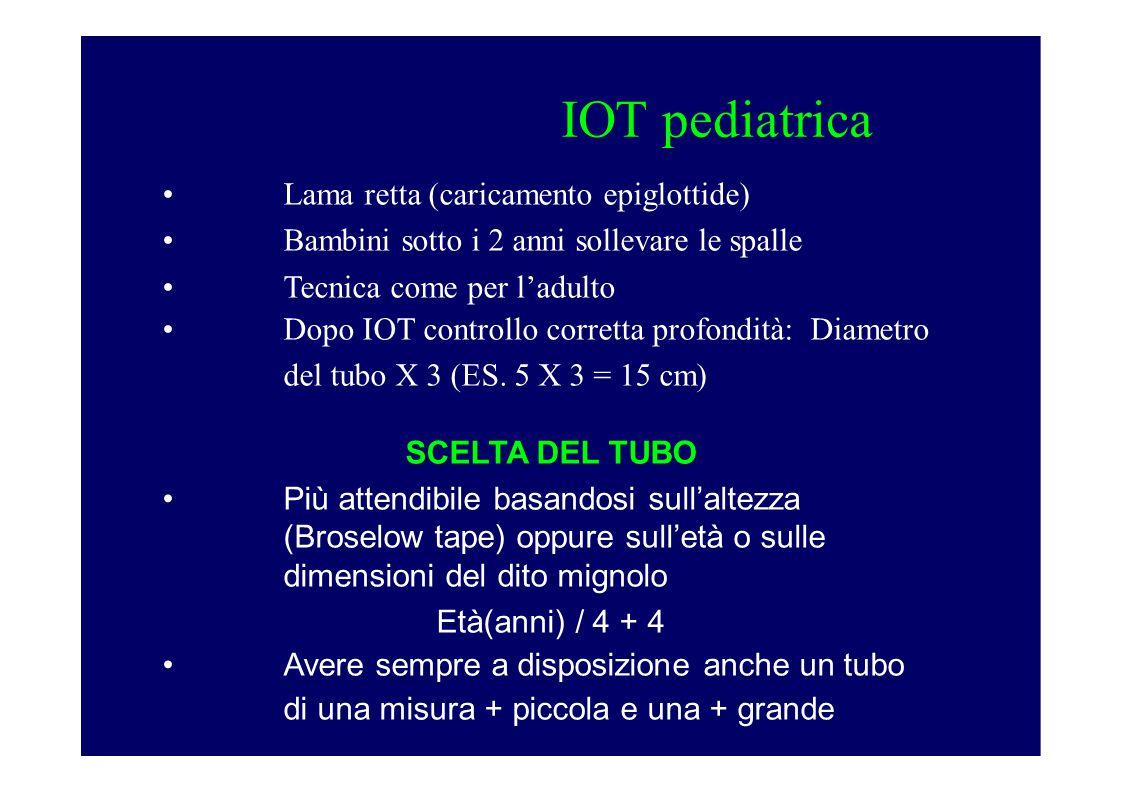 IOT pediatrica Lama retta (caricamento epiglottide)