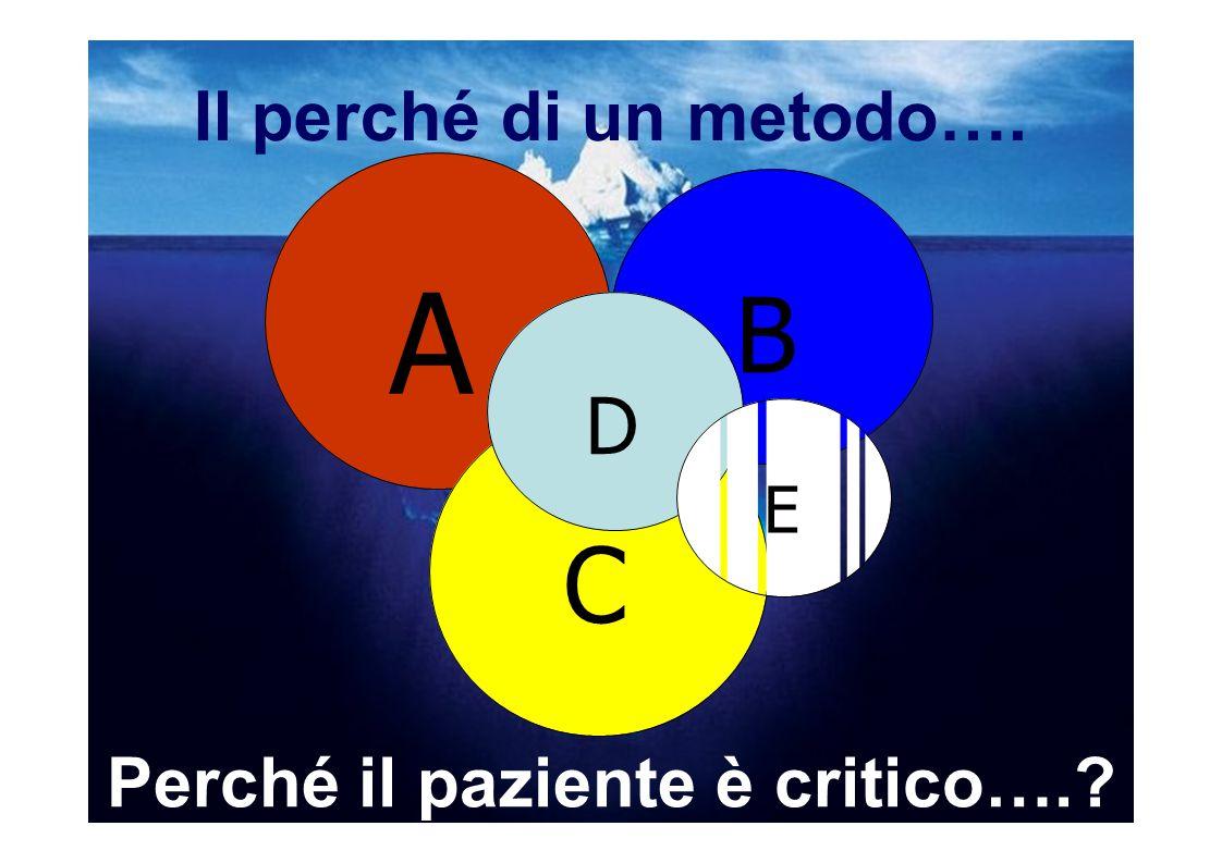 Il perché di un metodo…. A B E D C Perché il paziente è critico….