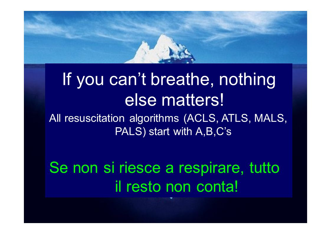 If you can't breathe, nothing else matters!