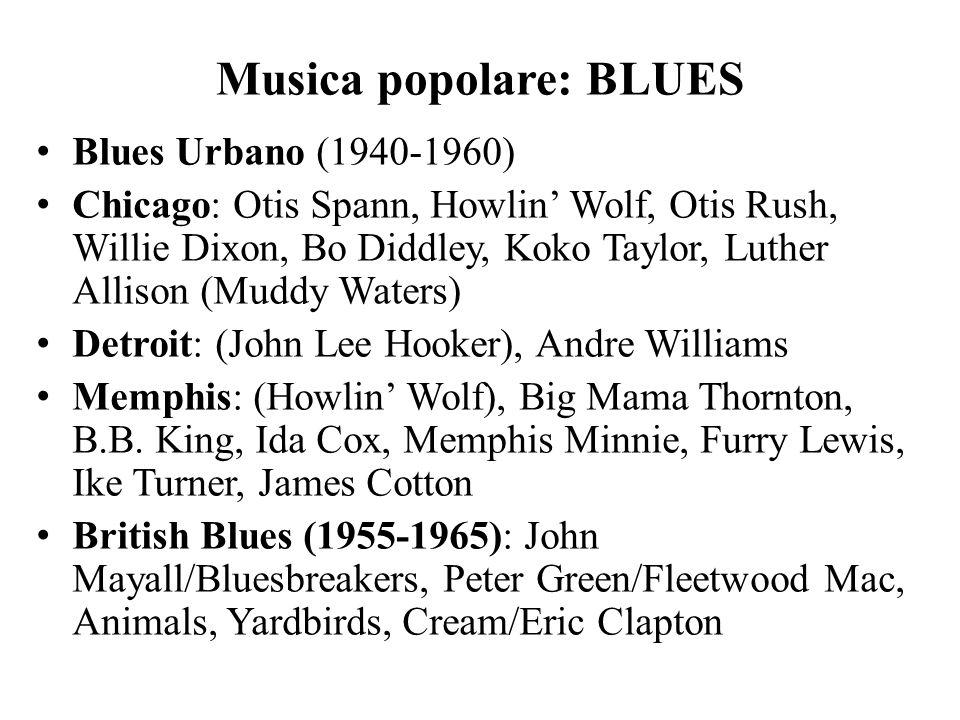 Musica popolare: BLUES