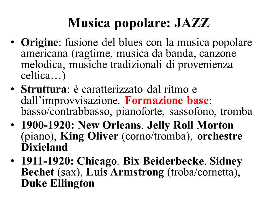 Musica popolare: JAZZ
