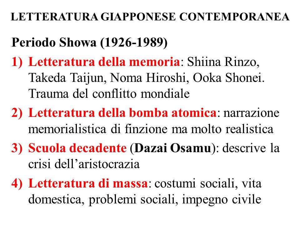 LETTERATURA GIAPPONESE CONTEMPORANEA