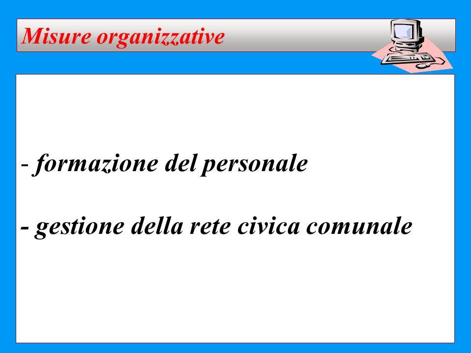 formazione del personale - gestione della rete civica comunale