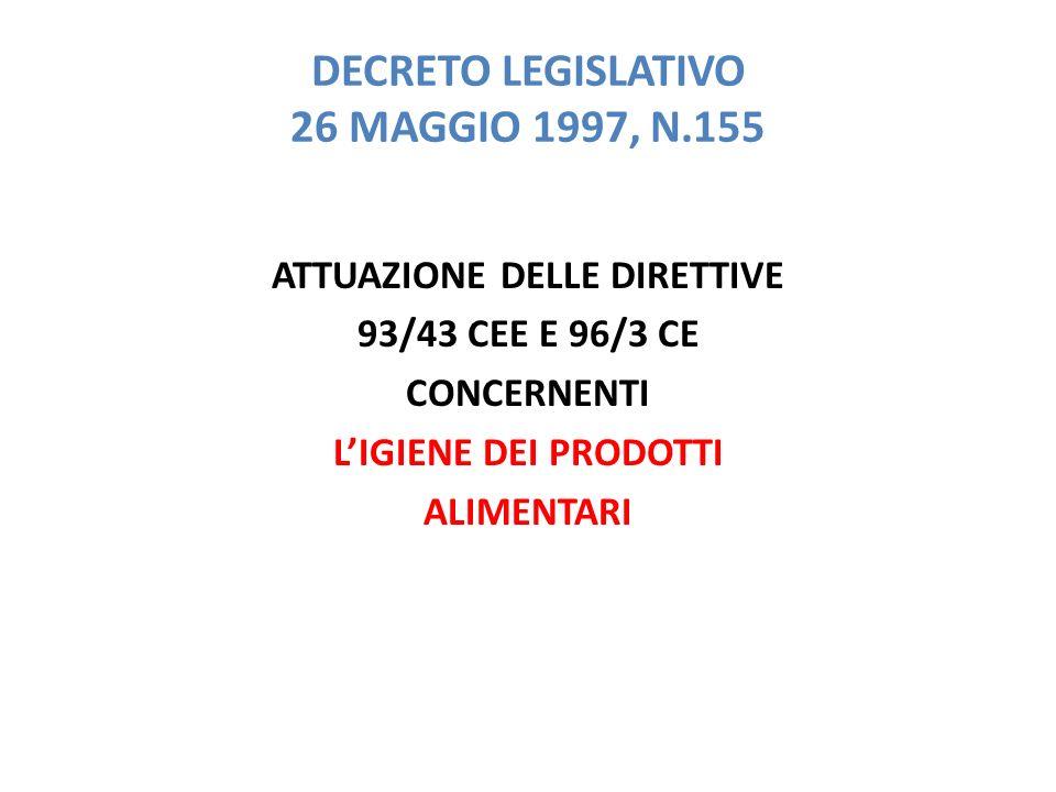 DECRETO LEGISLATIVO 26 MAGGIO 1997, N.155