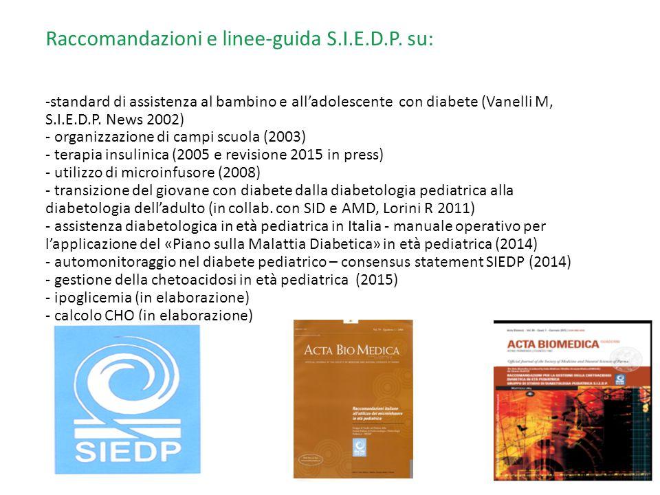 Raccomandazioni e linee-guida S. I. E. D. P