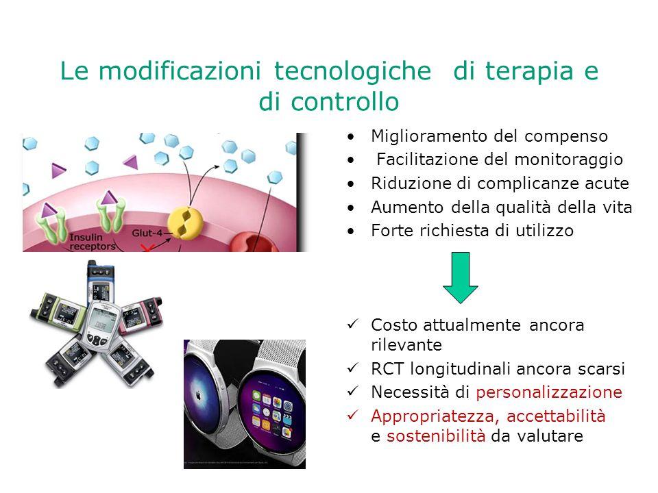 Le modificazioni tecnologiche di terapia e di controllo