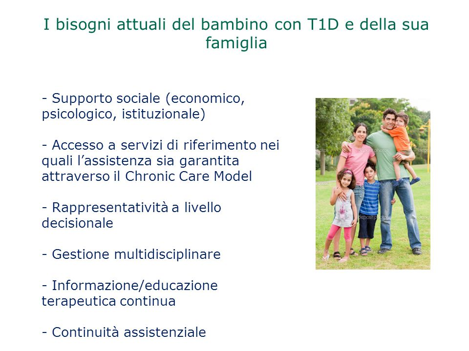 I bisogni attuali del bambino con T1D e della sua famiglia