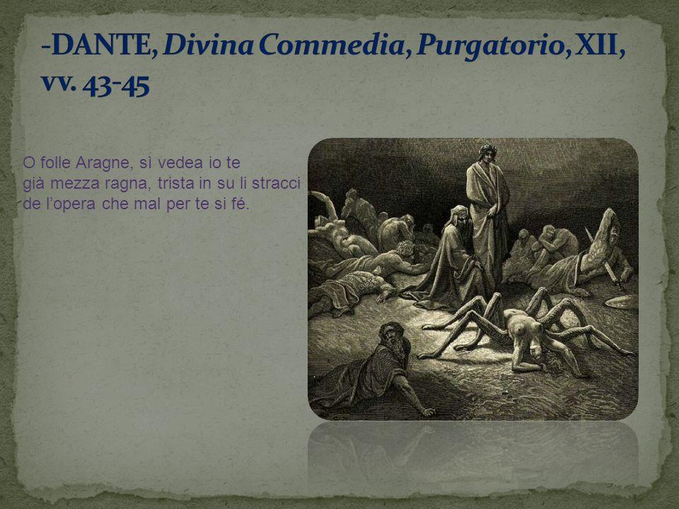 -DANTE, Divina Commedia, Purgatorio, XII, vv. 43-45