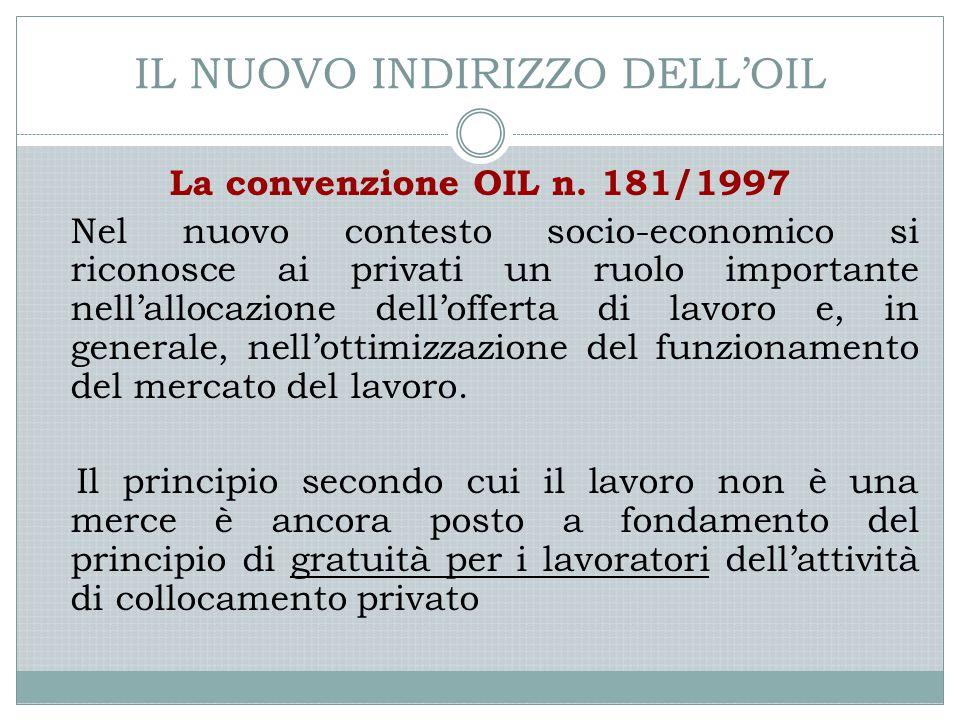 IL NUOVO INDIRIZZO DELL'OIL