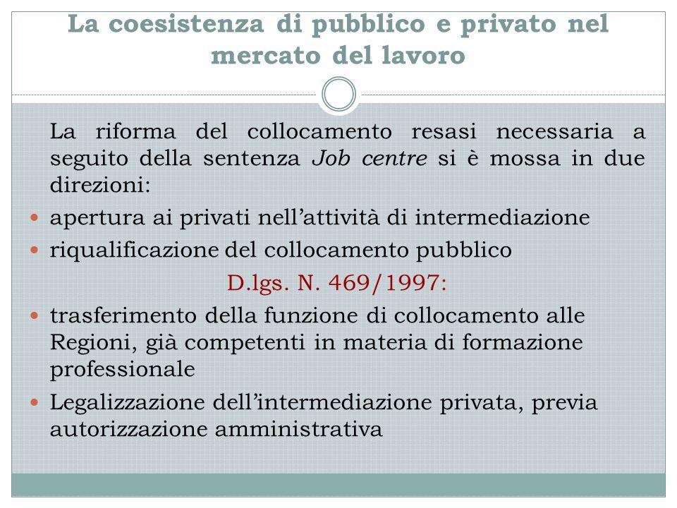 La coesistenza di pubblico e privato nel mercato del lavoro