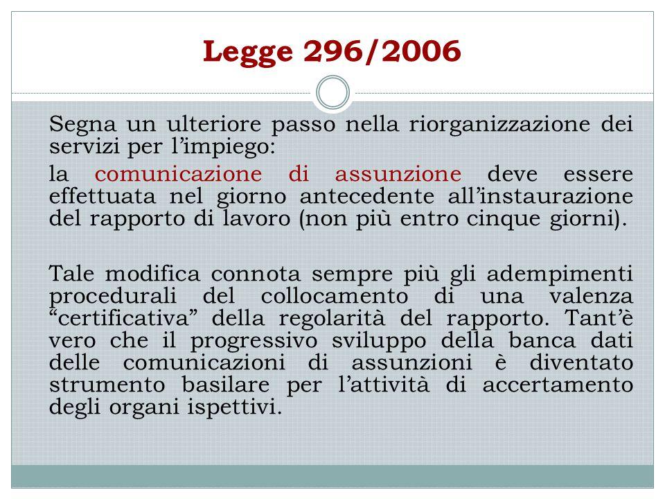 Legge 296/2006