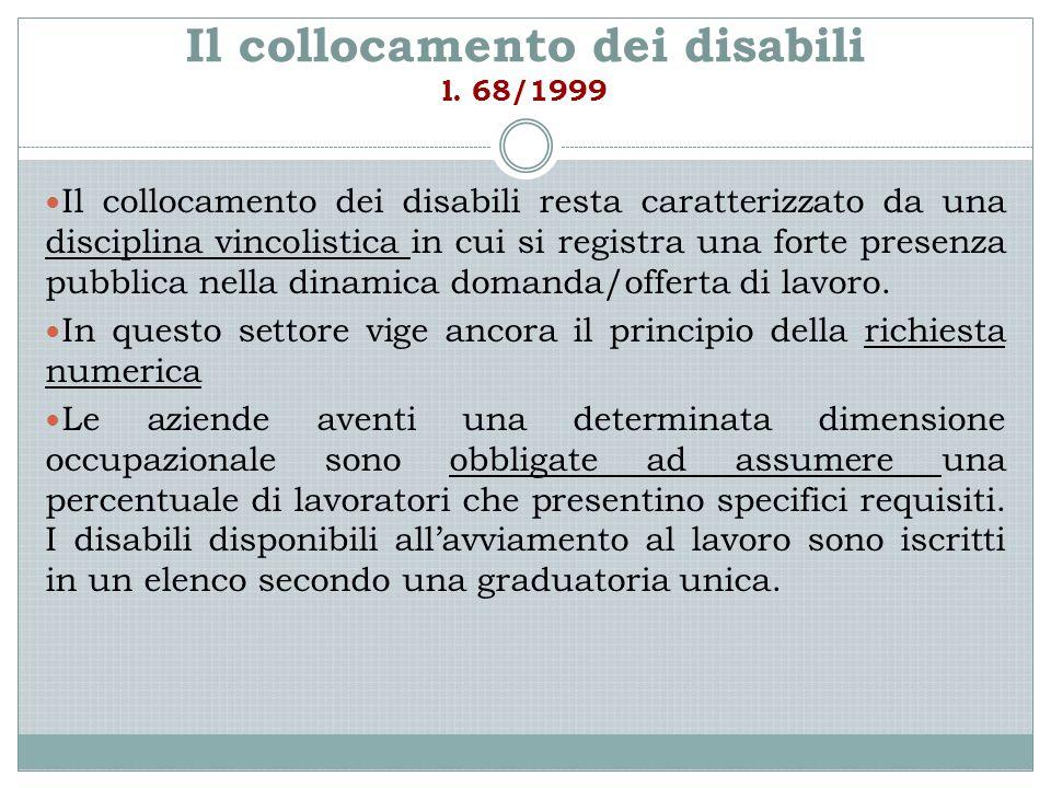 Il collocamento dei disabili l. 68/1999