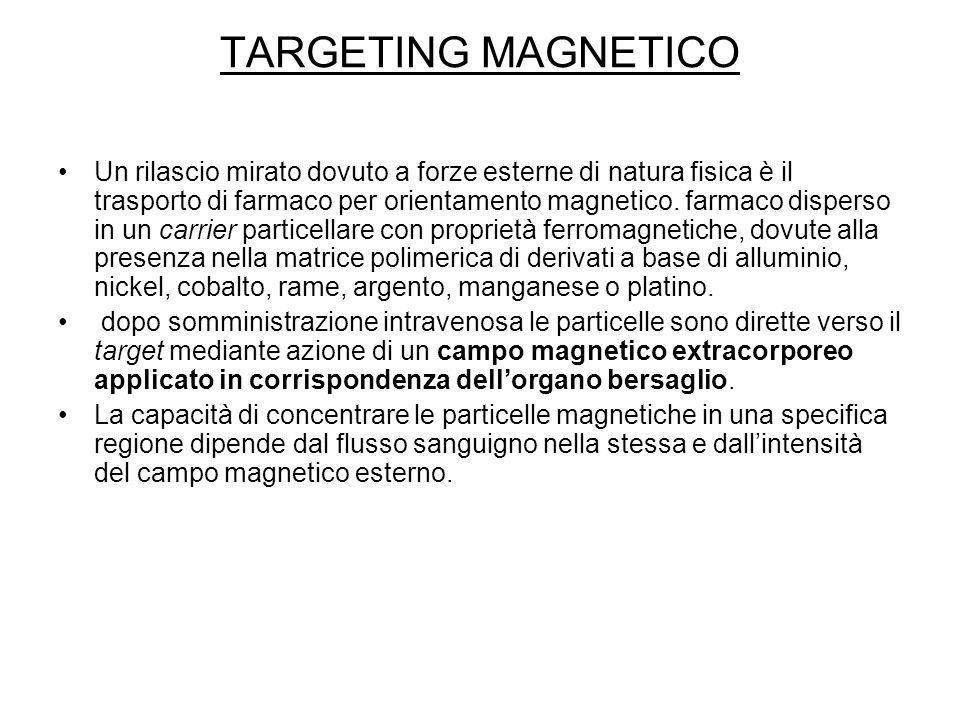 TARGETING MAGNETICO