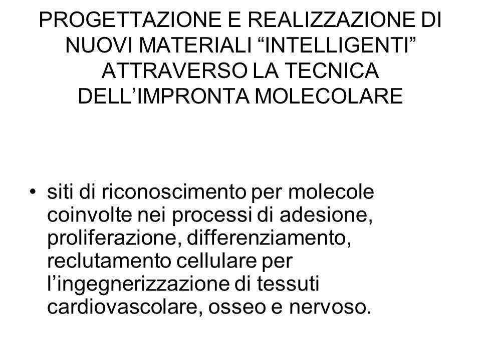 PROGETTAZIONE E REALIZZAZIONE DI NUOVI MATERIALI INTELLIGENTI ATTRAVERSO LA TECNICA DELL'IMPRONTA MOLECOLARE