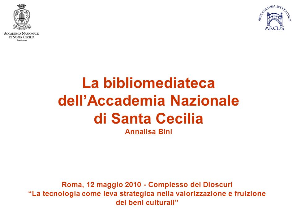dell'Accademia Nazionale Roma, 12 maggio 2010 - Complesso dei Dioscuri