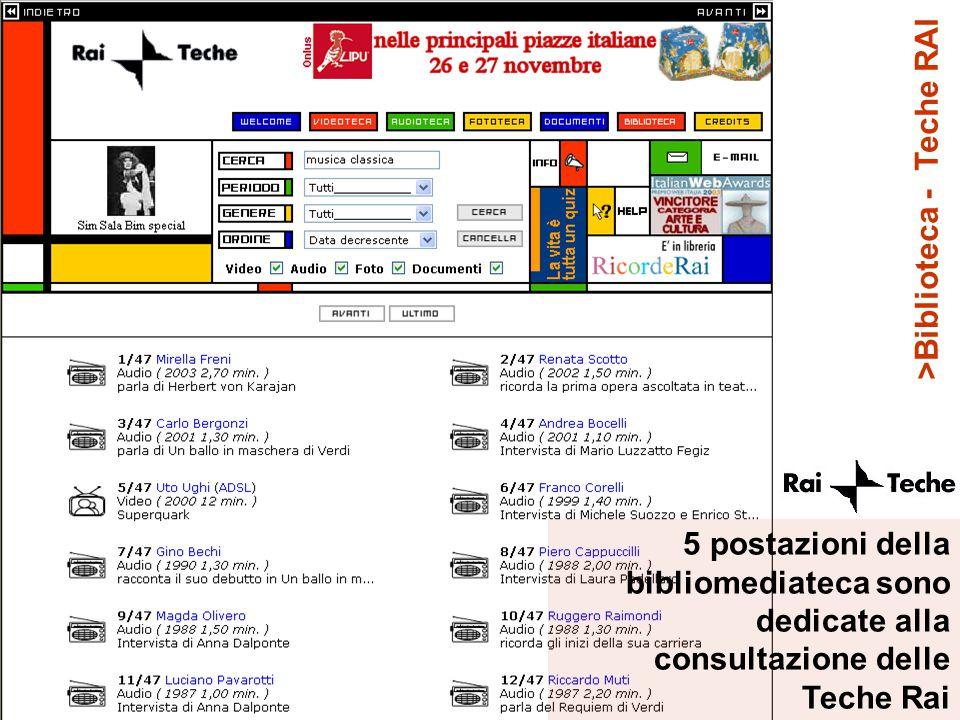 >Biblioteca - Teche RAI