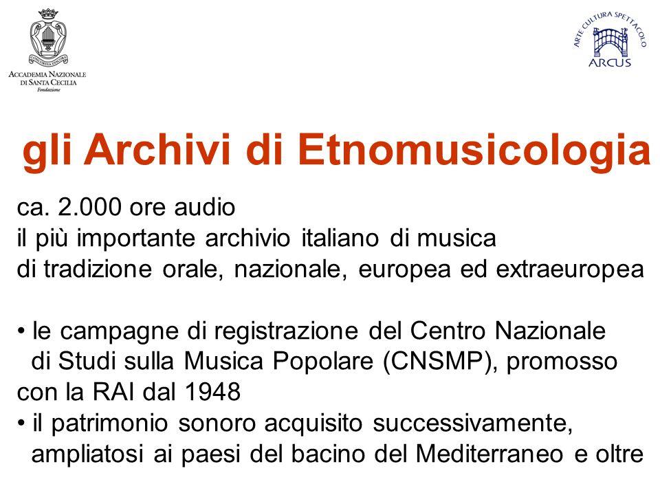 gli Archivi di Etnomusicologia