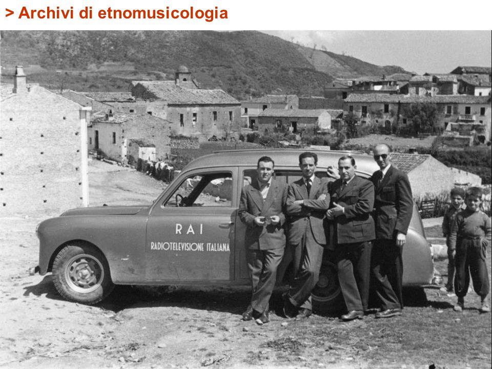 > Archivi di etnomusicologia