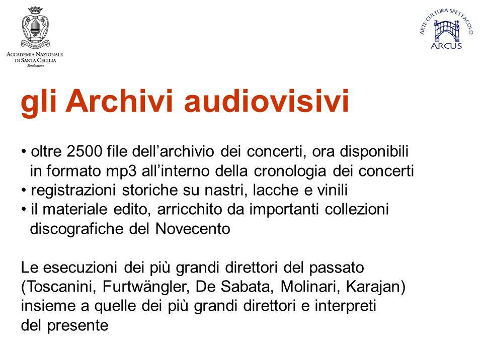 gli Archivi audiovisivi