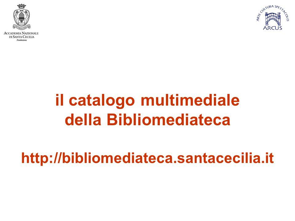 il catalogo multimediale della Bibliomediateca