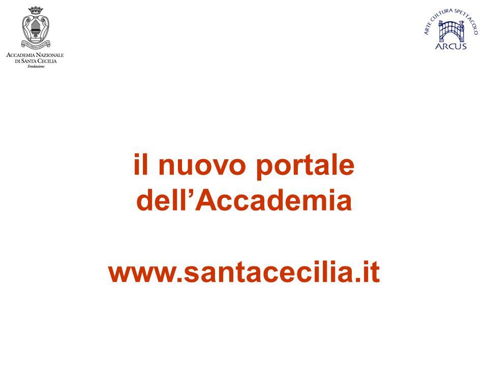 il nuovo portale dell'Accademia www.santacecilia.it