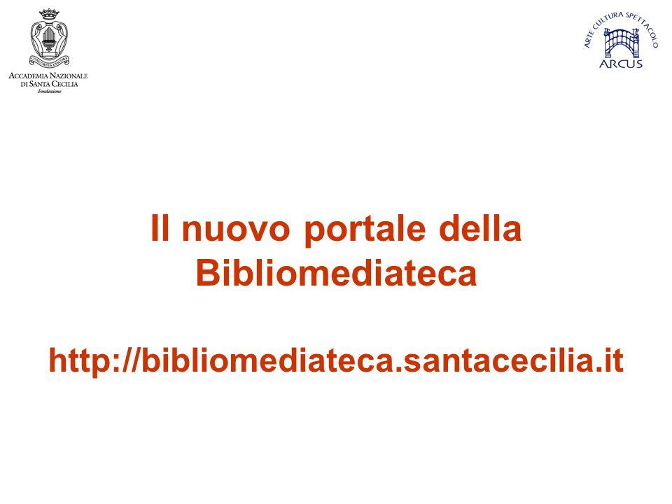 Il nuovo portale della Bibliomediateca
