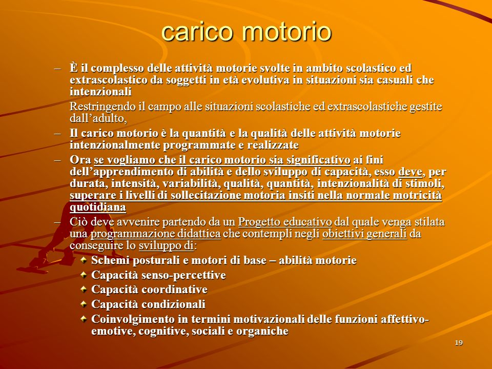 carico motorio