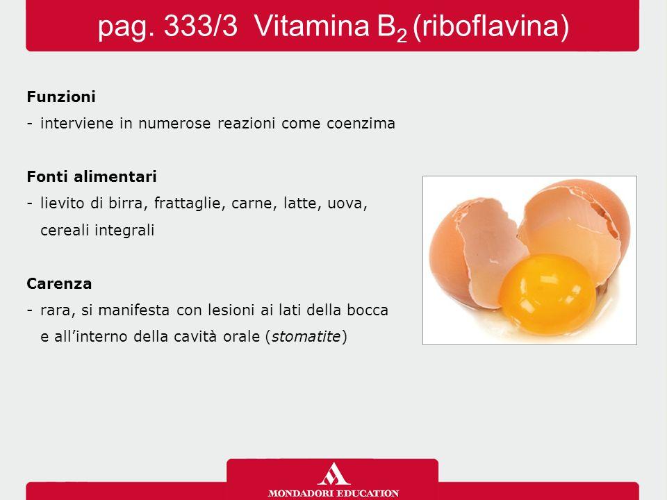 pag. 333/3 Vitamina B2 (riboflavina)