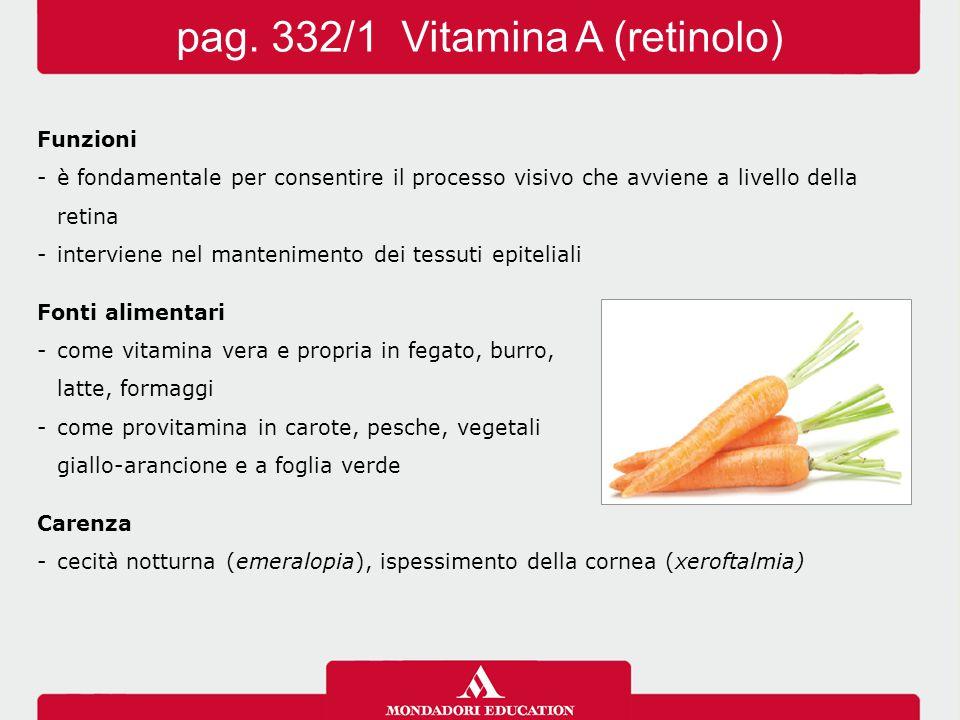 pag. 332/1 Vitamina A (retinolo)