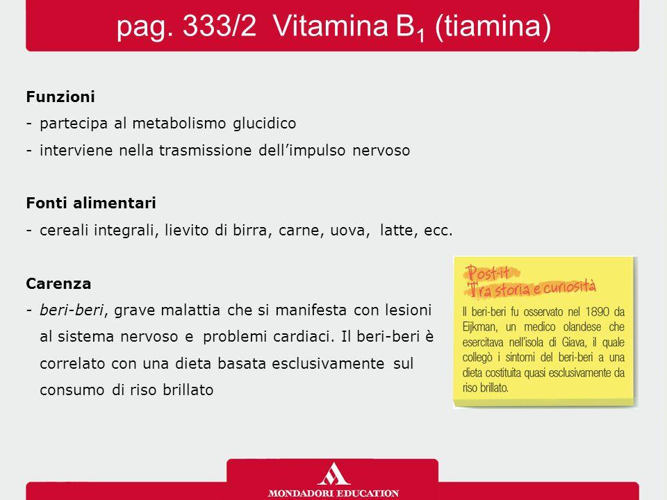 pag. 333/2 Vitamina B1 (tiamina)