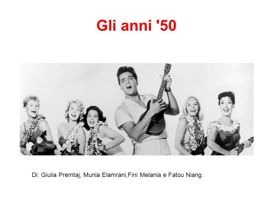 Gli anni 50 Di: Giulia Premtaj, Munia Elamrani,Fini Melania e Fatou Niang.
