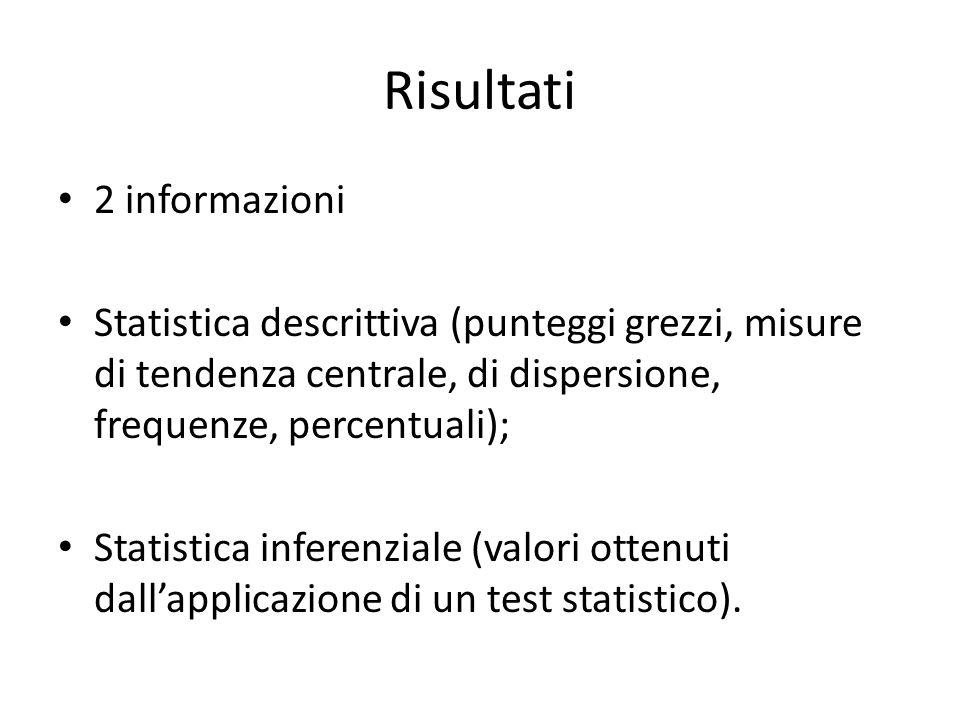 Risultati 2 informazioni