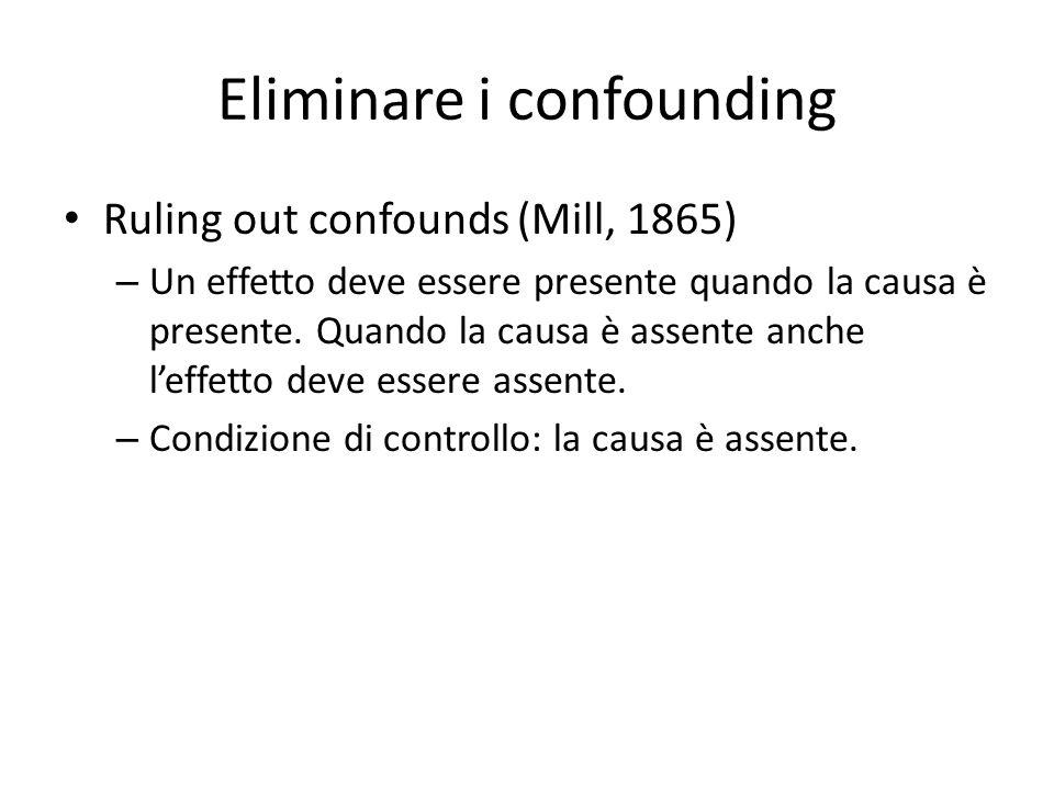 Eliminare i confounding