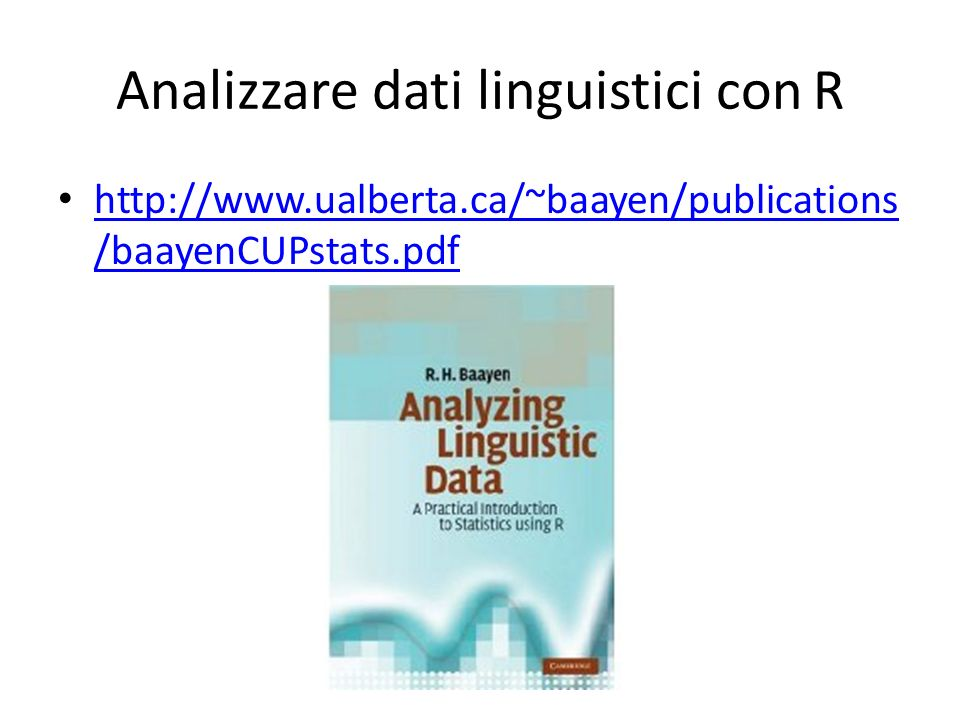 Analizzare dati linguistici con R