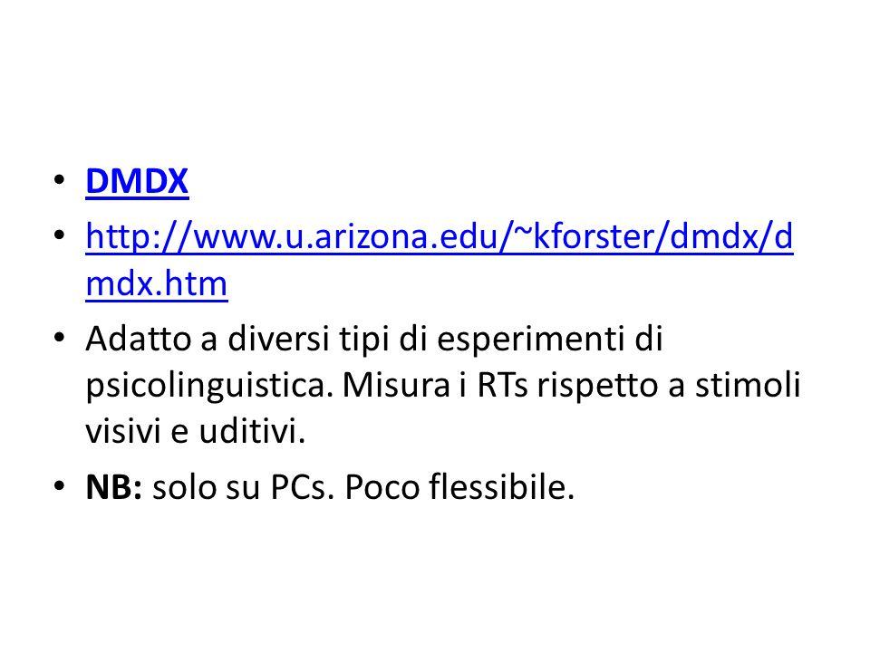 DMDX http://www.u.arizona.edu/~kforster/dmdx/dmdx.htm.