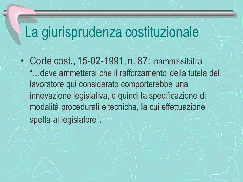 La giurisprudenza costituzionale