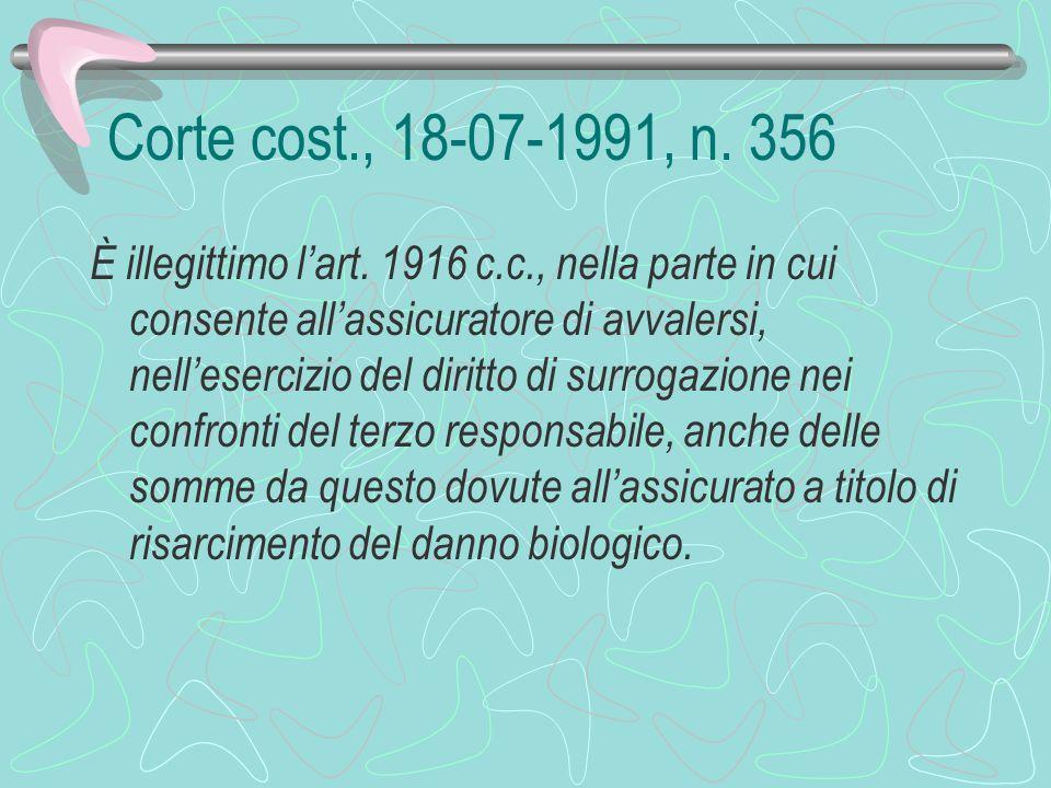 Corte cost., 18-07-1991, n. 356