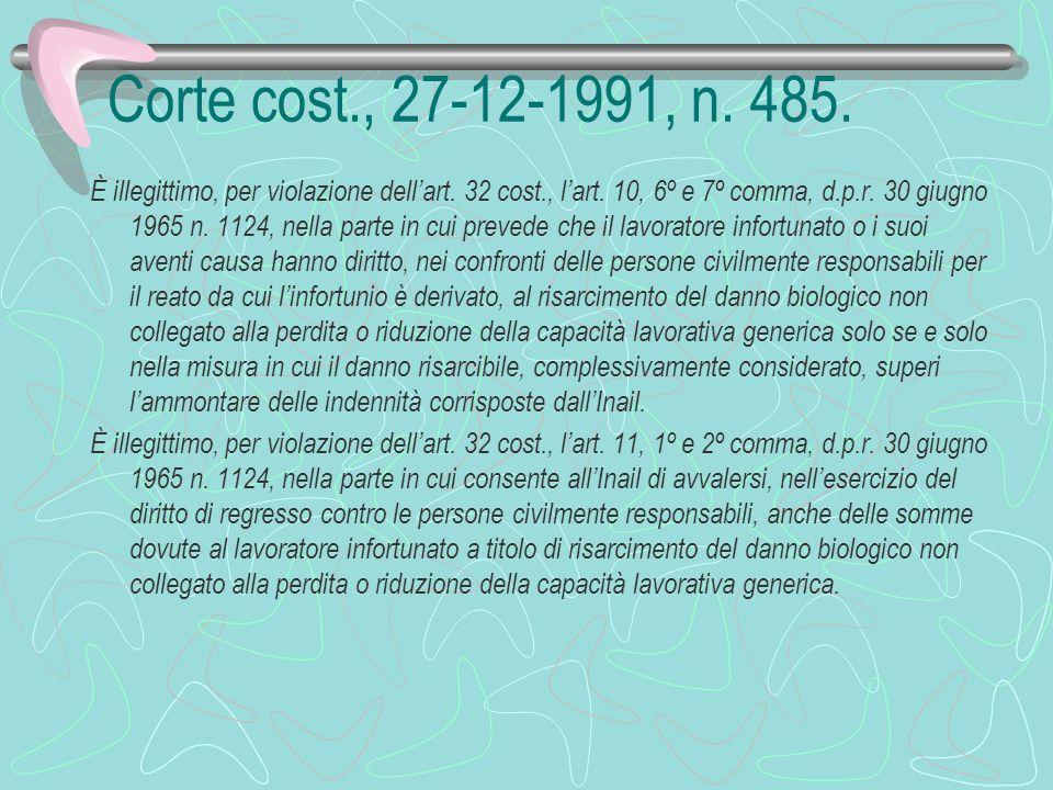 Corte cost., 27-12-1991, n. 485.