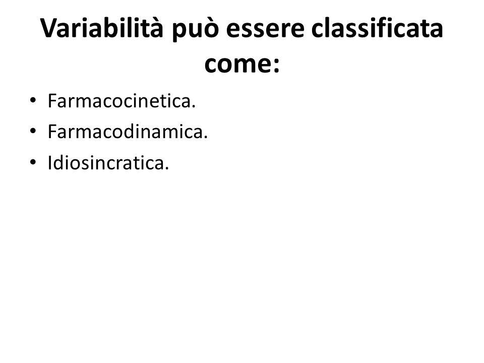 Variabilità può essere classificata come: