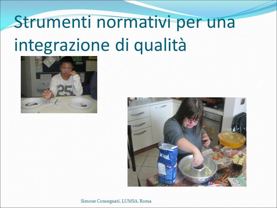 Strumenti normativi per una integrazione di qualità
