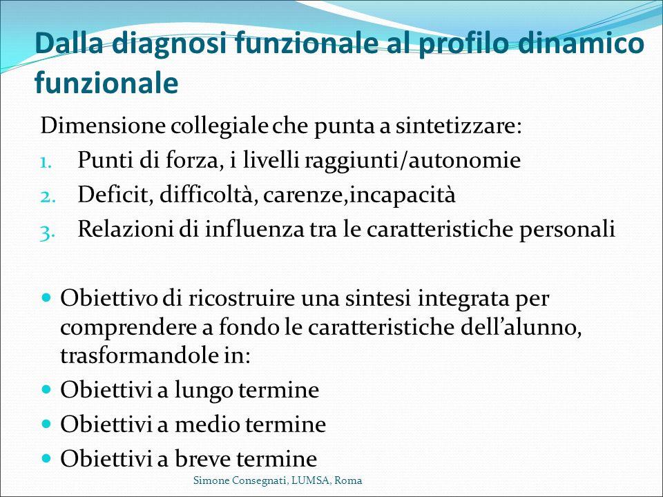 Dalla diagnosi funzionale al profilo dinamico funzionale