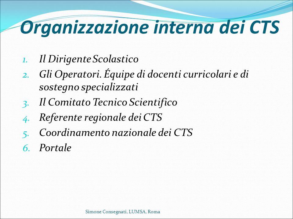 Organizzazione interna dei CTS