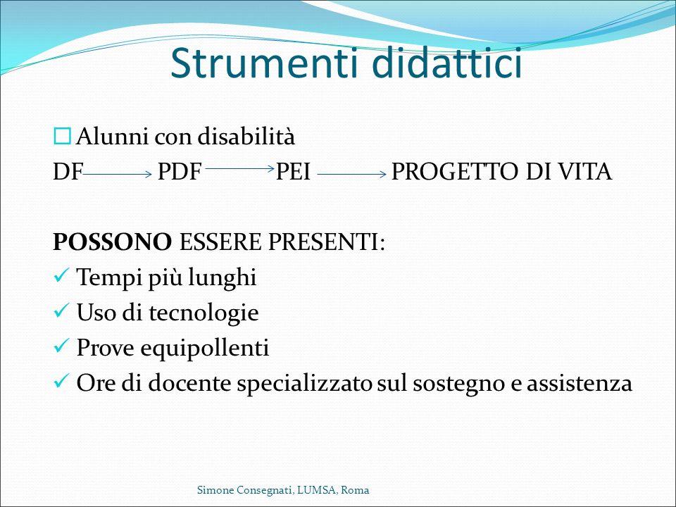 Strumenti didattici Alunni con disabilità DF PDF PEI PROGETTO DI VITA