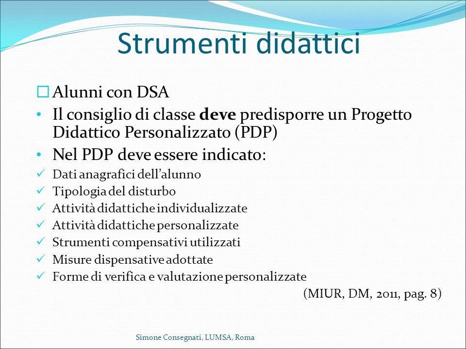 Strumenti didattici Alunni con DSA